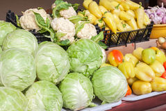 Fresh vegetables of new harvest ready to sale Stock Photo