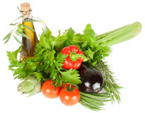 Fresh vegetables and olives Royalty Free Stock Images