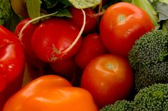 Fresh Vegetables On Cutting Board Royalty Free Stock Photos