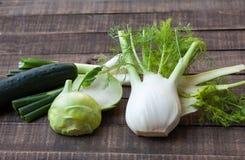 Fresh vegetables. Fresh organic green vegetables full of vitamins Royalty Free Stock Image