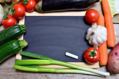 Fresh vegetables panel Royalty Free Stock Images