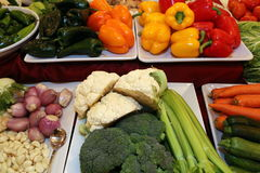 Fresh Vegetables for the party. The colorful vegetables are ready for the guests Stock Photography