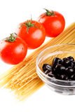 Fresh vegetables with pasta Stock Images
