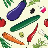 Fresh vegetables pattern Royalty Free Stock Images