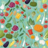 Fresh vegetables pattern Stock Photos