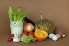 Fresh vegetables on a kitchen counter Stock Image