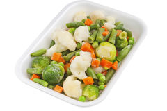 Fresh vegetables in a plastic container Royalty Free Stock Photos