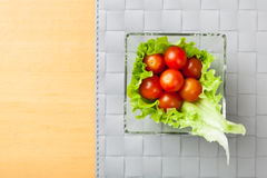 Fresh vegetables on plate Royalty Free Stock Photos