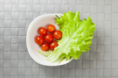 Fresh vegetables on plate Royalty Free Stock Images