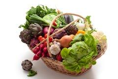 Fresh vegetables pn basket. Royalty Free Stock Image