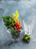 Fresh vegetables for preparing smoothie Royalty Free Stock Images