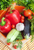 Fresh vegetables (ratatouille ingredients) Stock Photography