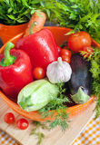 Fresh vegetables (ratatouille ingredients) Stock Photos