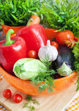 Fresh vegetables (ratatouille ingredients) Stock Photo