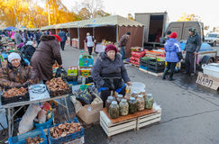 Fresh vegetables ready for sale at the traditional farmers marke Stock Photos