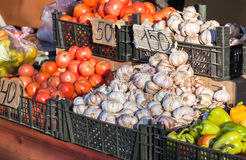 Fresh vegetables ready for sale Stock Image