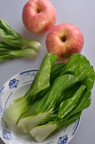 Fresh Vegetables and red apples Stock Image