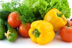 Fresh vegetables for salad Stock Images