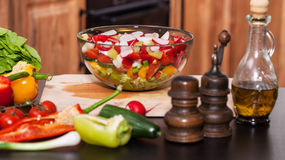 Fresh vegetables salad in a bowl Stock Photography