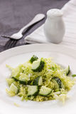Fresh vegetables salad with cabbage and cucumber. Fresh vegetables salad with cabbage and frech cucumber Stock Photo