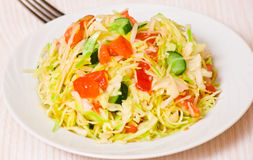 Fresh vegetables salad with cabbage Stock Photo