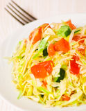 Fresh vegetables salad with cabbage Stock Photography