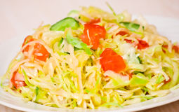 Fresh vegetables salad with cabbage Royalty Free Stock Images