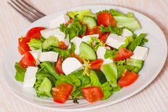 Fresh vegetables salad with cheese Stock Images
