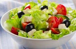Fresh vegetables salad with feta Stock Photos