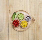 Fresh vegetables salad with Japanese dressing Royalty Free Stock Photo