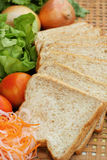 Fresh vegetables salad with whole wheat bread. Royalty Free Stock Photos