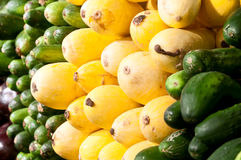 Fresh vegetables on sale at farmers market Royalty Free Stock Images