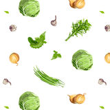 Fresh Vegetables Seamless Pattern Royalty Free Stock Photo