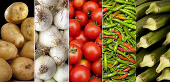 Fresh Vegetables - Cooking Ingredients Stock Image