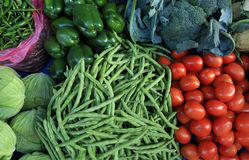 Fresh vegetables selling Stock Image