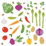Fresh vegetables set Royalty Free Stock Photography