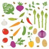 Fresh vegetables set Royalty Free Stock Photography