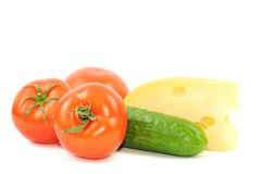 Fresh vegetables and sheese Stock Images