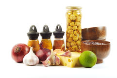 Fresh vegetables and spice Royalty Free Stock Photo