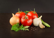 Fresh Vegetables and Spice Royalty Free Stock Photos