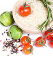 Fresh vegetables and spices Royalty Free Stock Photo