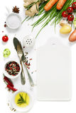Fresh vegetables and spices Stock Images