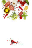 Fresh vegetables and spices Stock Photos