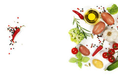 Fresh vegetables and spices Stock Image