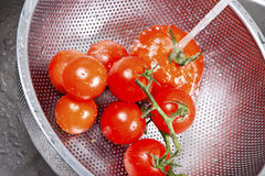 Fresh vegetables splashing in water Royalty Free Stock Photography