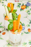 Fresh vegetables sticks  in a glass Stock Image