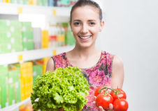 Fresh vegetables at store Stock Photography