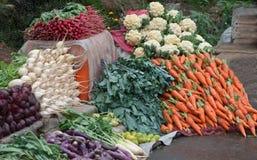 Fresh vegetables - street sale Stock Photos