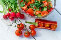 Fresh vegetables in sunny garden Royalty Free Stock Photos