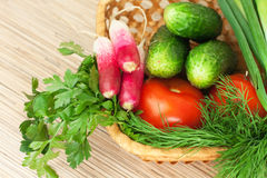 Fresh vegetables on the table Royalty Free Stock Photo